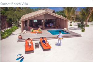 sunset beach villa